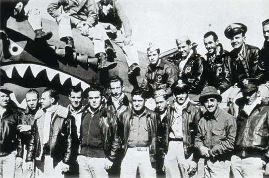 Группа американских летчиков-добровольцев «Летающие тигры». 1941 г.