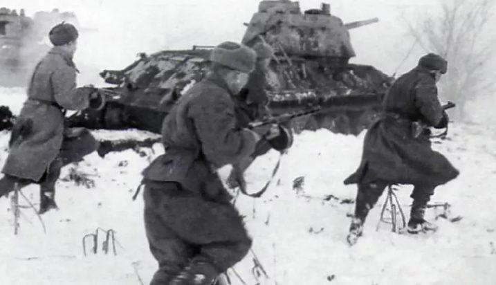 Наступление советских войск. Март 1942 г.