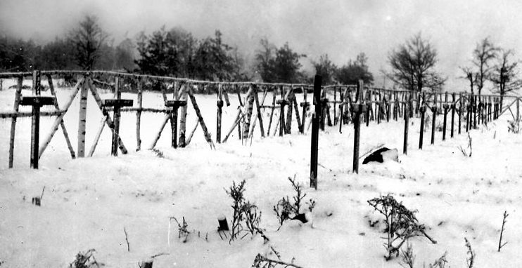 Кладбище концлагеря «Stalag – 358». 1941 г.