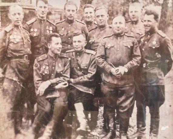 Штаб 339-го полка, который освобождал город. Март 1944 г.