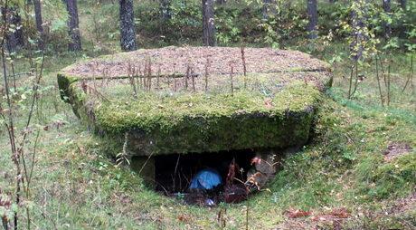 ЖБОТ, установленный летом 1941 года, в порядке строительства Лужского оборонительного рубежа. Представлял собой простой 2-секционный железобетонный колпак с толщиной стенок 13 мм и диаметром 1680 мм.