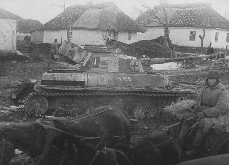 Брошенная немецкая бронетехника. Апрель 1944 г.