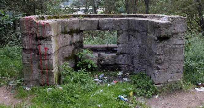 Блочносборный ЖБОТ с амбразурой в передней стенке.