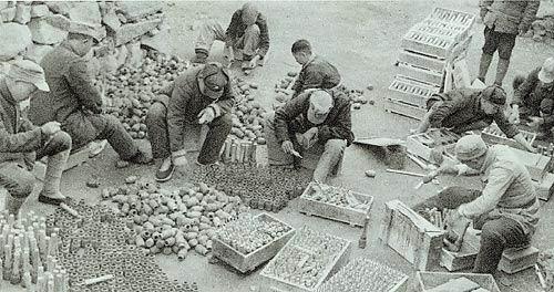 Кустарное производство ручных гранат в китайской армии. 1942 г.