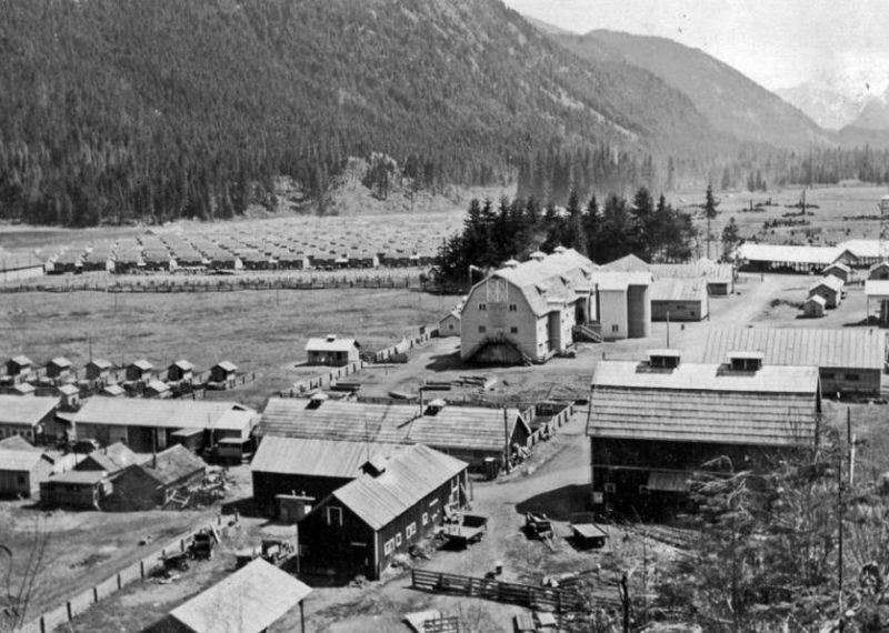 Лагерь интернированных японцев в Канаде. Июль 1942 г.