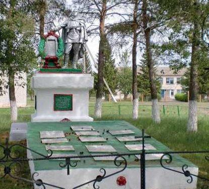 с. Соколье Тимского р-на. Памятник, установленный на братской могиле, в которой захоронено 146 советских воинов.