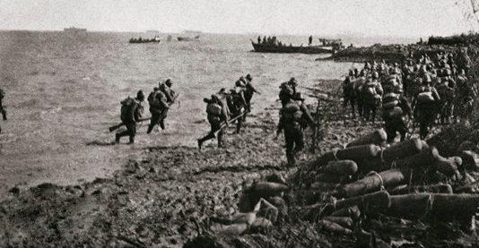 Высадка японцев под Шанхаем. Ноябрь 1937 г.