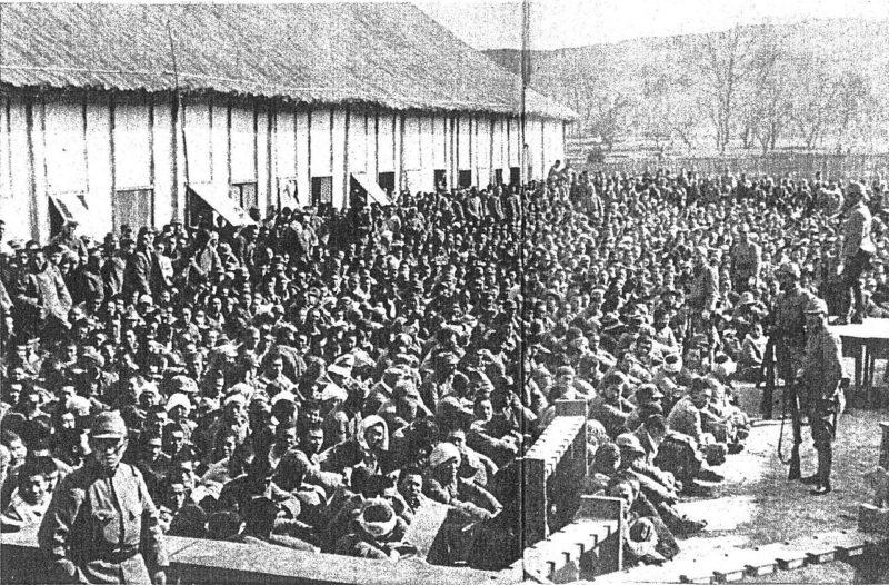 Пленные китайцы, захваченные в Нанкине. 1937 г.