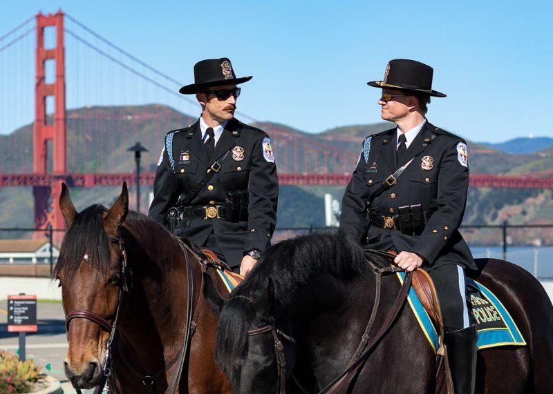 Конная полиция в Сан- Франциско.
