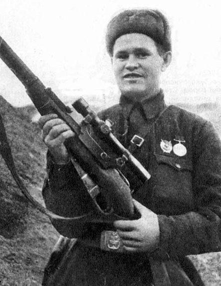 Снайпер Василий Зайцев. 1942 г.