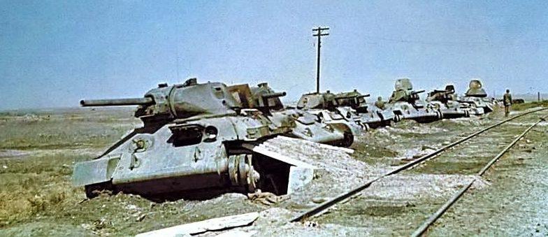 Кладбище советских танков. Июль 1942 г.