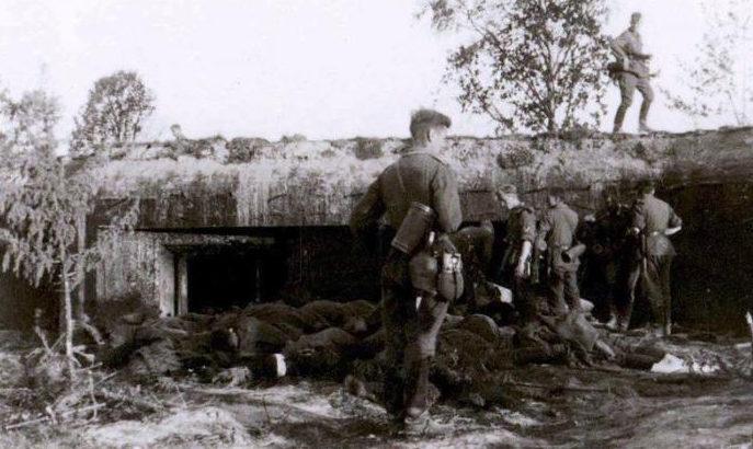 Захваченный немцами ДОТ Себежского Ура. Заситино.