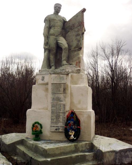д. Шалимовка Фатежского р-на. Памятник, установленный на братской могиле, в которой захоронены советские воины.