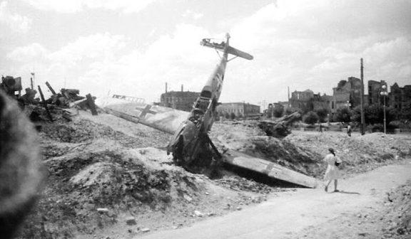 Сбитые немецкие истребители. 1942 г.