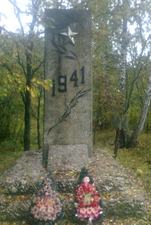 х. Богомолов Хомутовского р-на. Братская могила советских воинов в Циновом лесу.