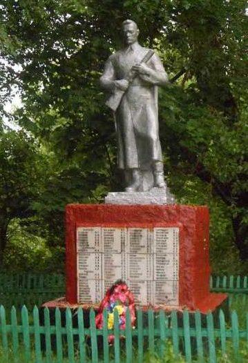 с. Веть Хомутовского р-на. Памятник, установленный в 1958 году на братской могиле, в которой захоронено 197 советских воинов, в т.ч. 138 неизвестных.