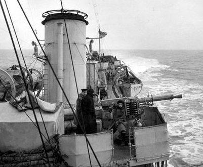 Зенитчики на канадском эсминце HMCS «Assiniboain». 1942 г.