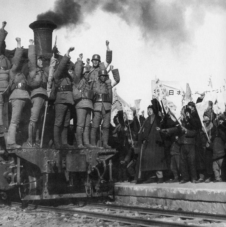 Антияпонский митинг. Октябрь 1937 г.