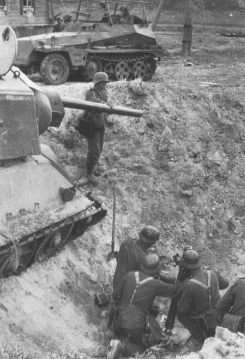 Немецкая минометная позиция. Сентябрь 1942 г.