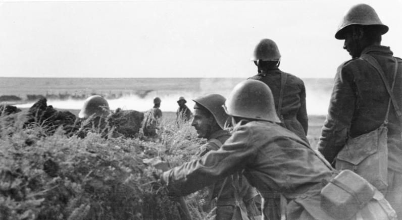 Румынские солдаты под Сталинградом. Сентябрь 1942 г.