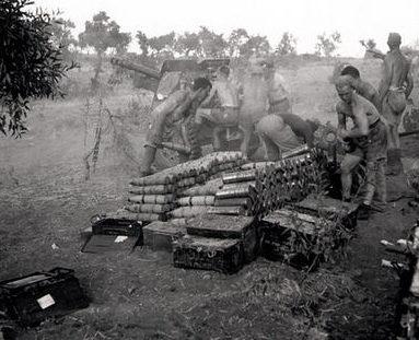 Артиллеристы в Ниссории. 28 июля 1943 г.