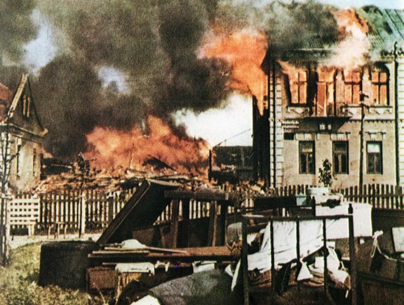 Результаты бомбардировок города. Сентябрь 1942 г.