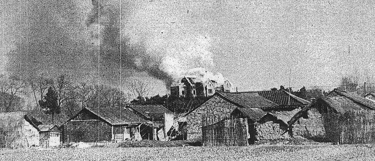 Поджег советского посольства в Нанкине. 1 января 1938 г.