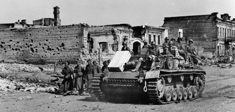 Штурмовое орудие в Сталинграде StuG III. 14 октября 1942 г.