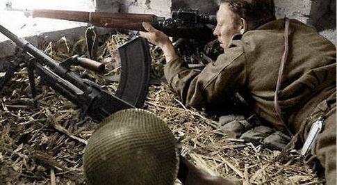 Канадский снайпер в Италии. 1943 г.
