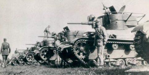Советские Т-26 на службе у китайцев. 1938 г.