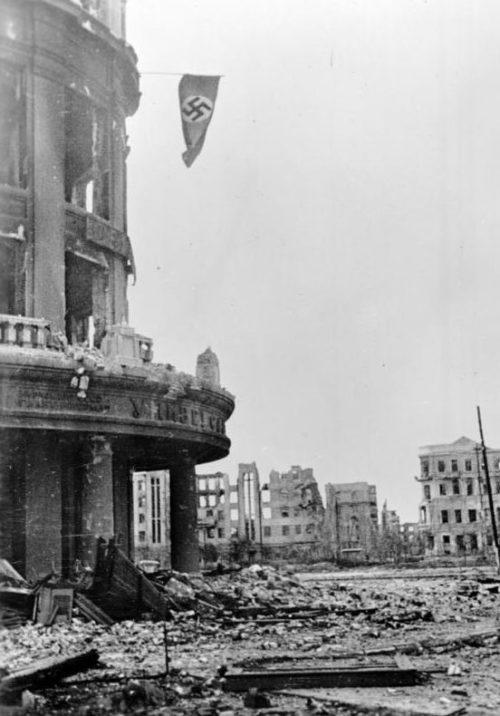 Часть города, захваченная немцами. Октябрь 1942 г.