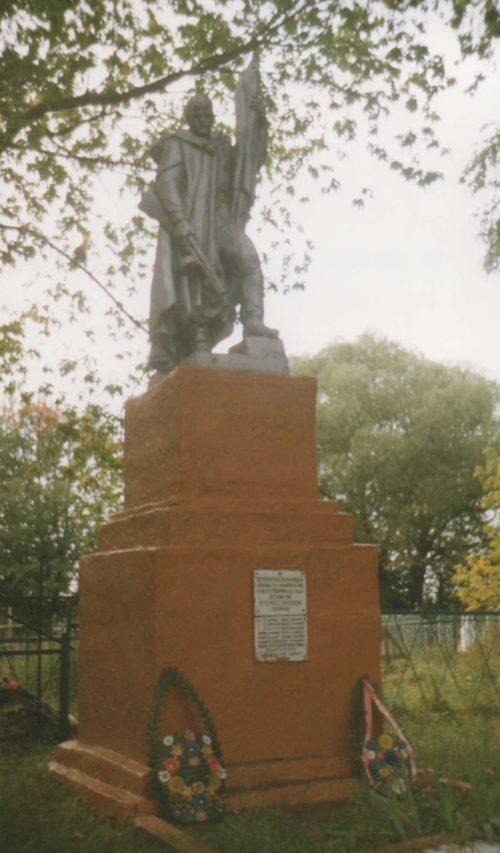 с. Нижний Теребуж Щигровского р-на. Памятник, установленный на братской могиле советских воинов.
