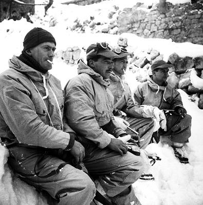 Горные стрелки близ Тоннареччо, Италия. 21 февраля 1944 г.