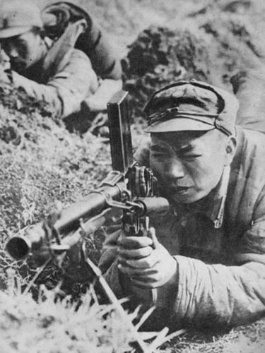 Пулеметный расчет. Провинция Шаньдун, 1938 г.