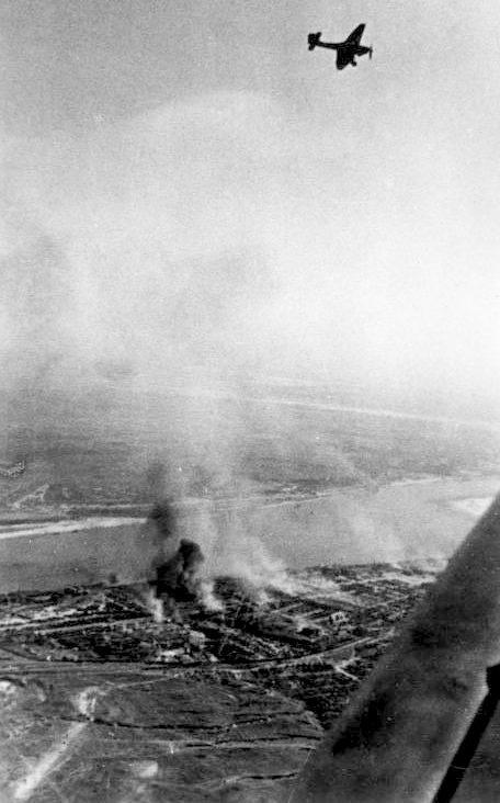 Бомбардировка города. Октябрь 1942 г.