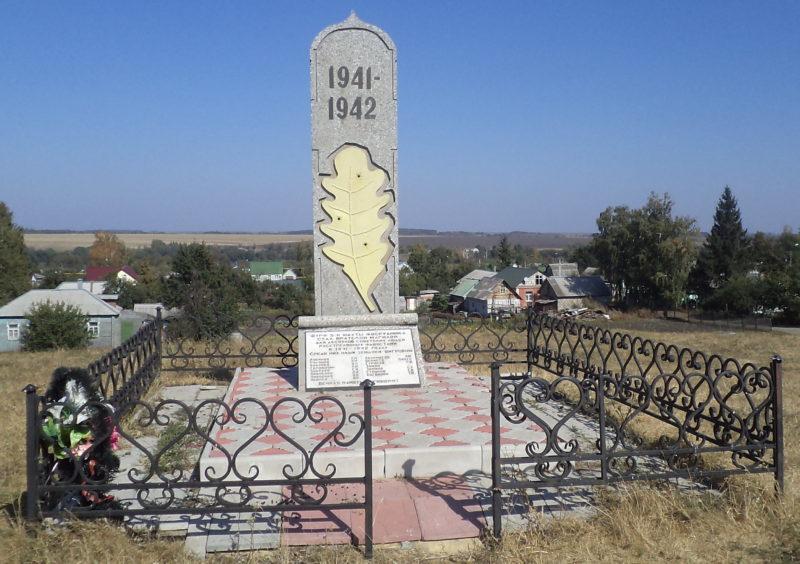 г. Щигры. Памятник, установленный на шурфе 5-й шахты фосрудника, где были казнены мирные жители.