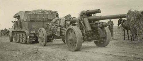 Немецкая 150-мм пушка FH-18 на службе китайской армии. 1938 г.