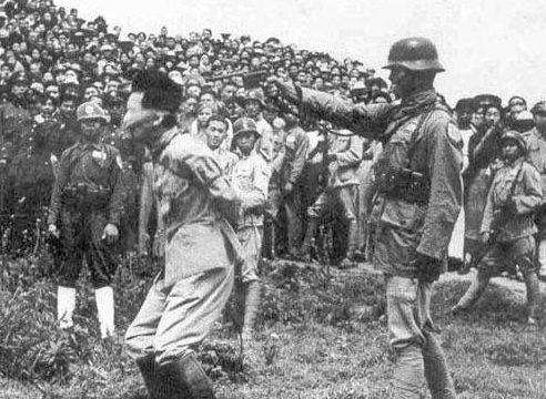 Расстрел японского военнопленного. 1938 г.