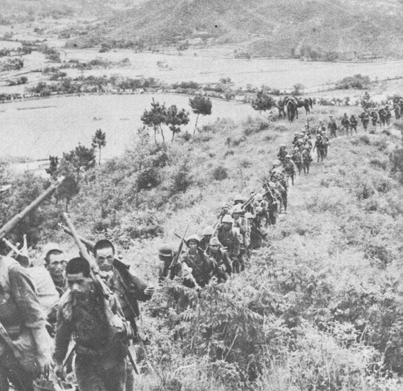 Японская колонна на марше в Кянгси. 1938 г.