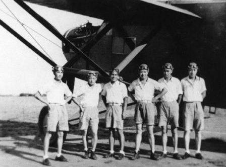 Пилоты из 10-й эскадрильи китайских ВВС. 1939 г.