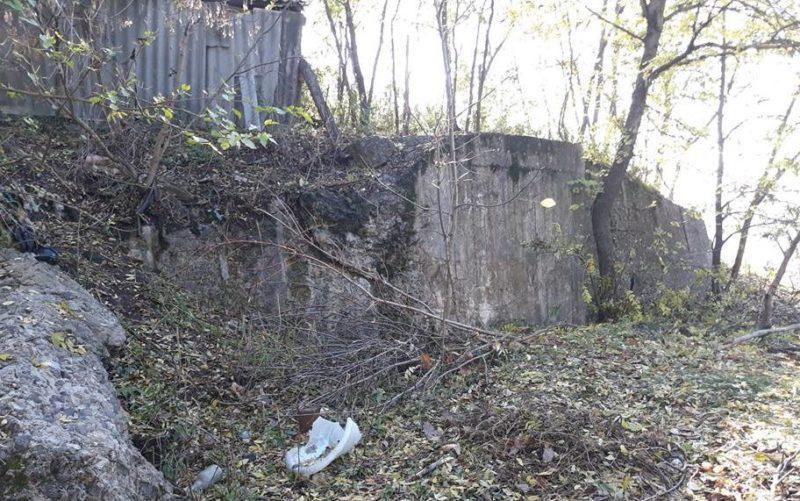 Развалины артиллерийского полукапонира №24Б на два орудия.