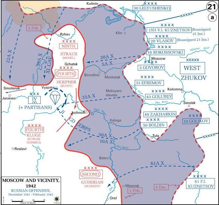 Карта-схема Ржевского выступа.