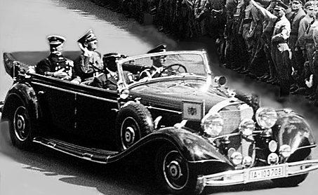 Адмирал Хорти во время визита к Гитлеру. Берлин, май 1938 г.