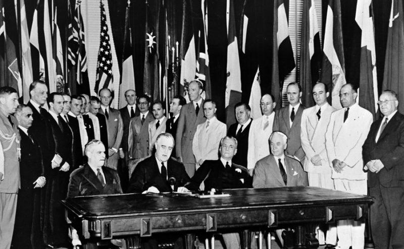 26 подписантов Декларации ООН.