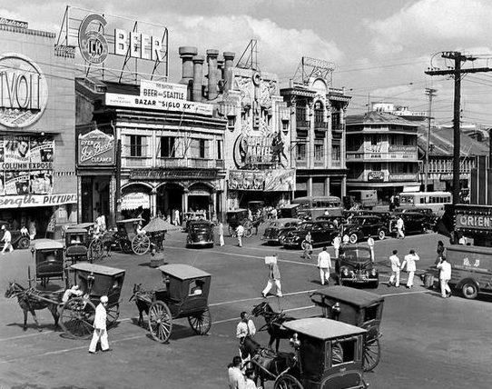Площадь Манилы перед японским вторжением.