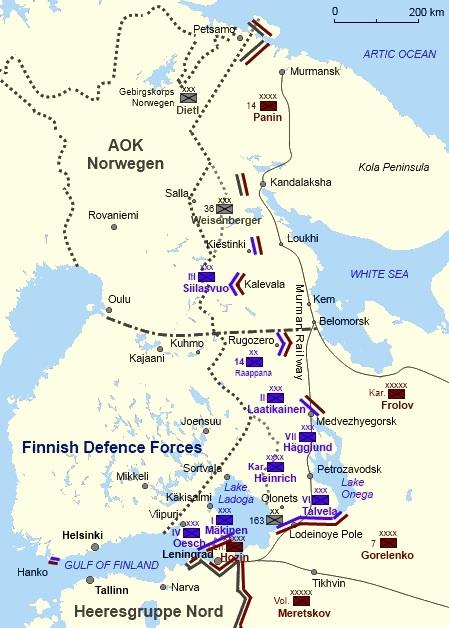 Расположение войск в декабре 1941 г.