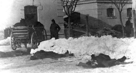 Трупы на улицах Нови-Саде.