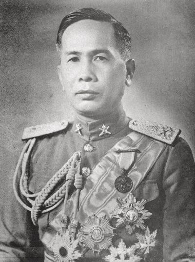 Премьер-министр Луанг Плек Пибунсонграм.