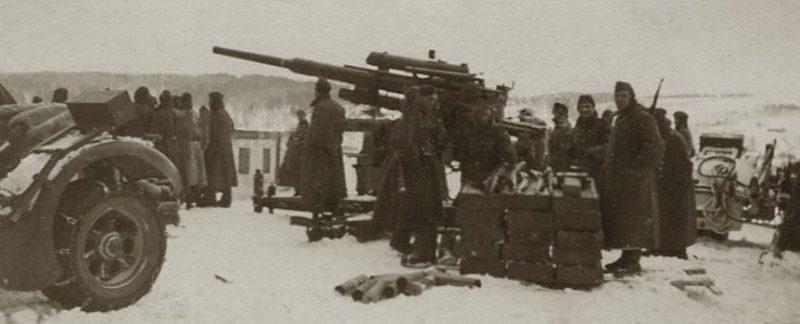 Позиция немецкой батареи в Калуге.