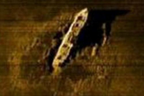Изображение, обнаруженного «Gairsoppa» с гидролокатора.